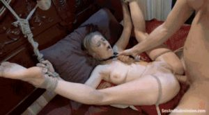Anal Pounding your rope tied sex slave