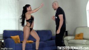 ballbusting latina