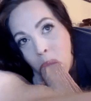 Balls Deept in her mouth