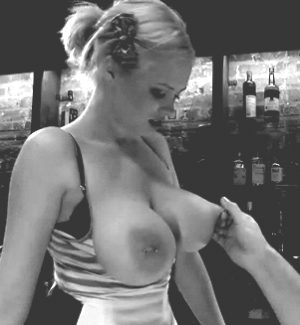 Barmaid gets her assets smacked