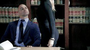 Blonde secretary get spanking by her boss
