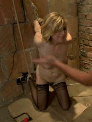 Bound Slave Slapped Hard