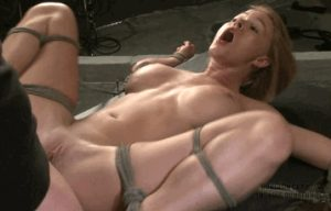 Busty milf gets tied up and fucked hard