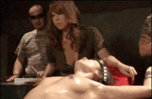 Fully electrified Asian woman