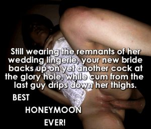 gloryhole honeymoon creampies
