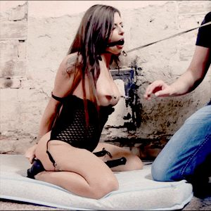 Hurt your slave while she's cumming vibed