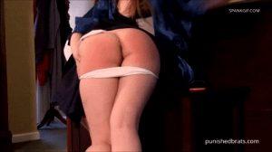 Proper hand spanking .