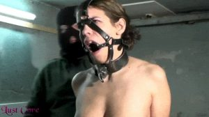 Punishment with harness ring gag on Lust Core