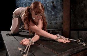 redhead slave in bondage