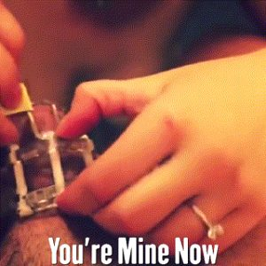 you're locked in chastity, you're Hers now